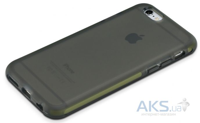 Чехол Rock Guard Series Apple iPhone 6, iPhone 6S Transparent  Black/Green