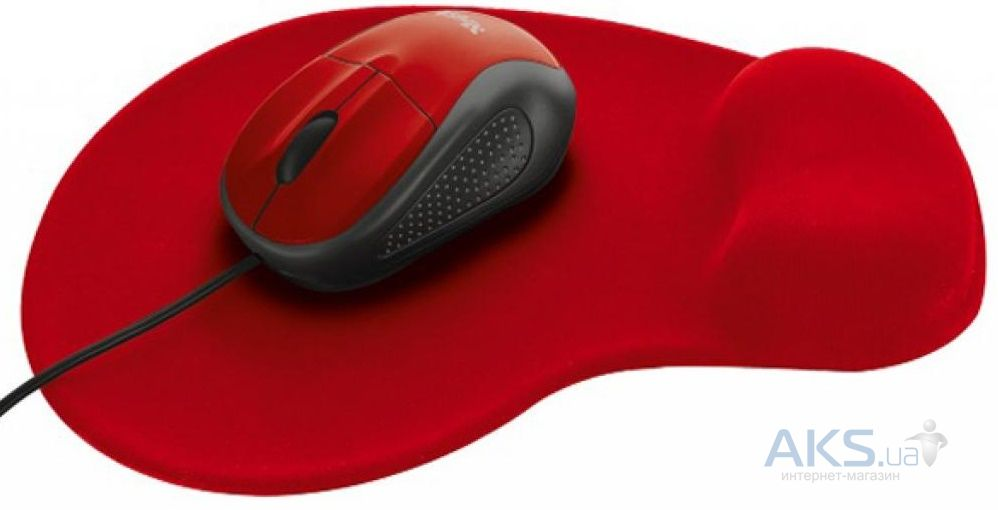 Компьютерная мышка Trust Primo Mouse with mouse pad (20427) Red