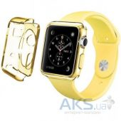 iBest чехол для Apple Watch 38mm TPU Case Clear Yellow