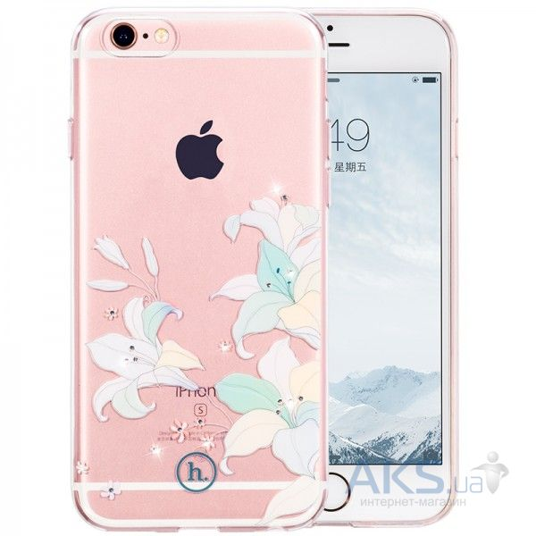 Чехол Hoco Super Star Inner Diamond Flower Apple iPhone 6, iPhone 6S Lily