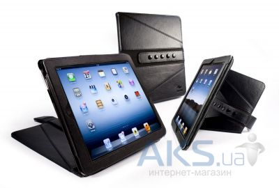 Чехол для планшета Tuff-Luv Tri-Axis Slim Series Faux Leather Case Cover For iPad 2,3,4 Black (E4_26)