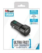 Зарядное устройство Trust URBAN Ultra Fast Car Charger 2.0 Black
