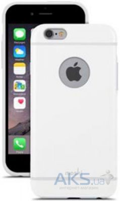 Чехол Moshi iGlaze Slim Hard Shell Case Graphite iPhone 6, iPhone 6S White (99MO079102)