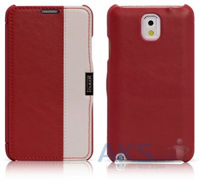 Чехол iCarer Side Open colorblock Samsung N9000 Galaxy Note 3 Red+White (RS900002RW)
