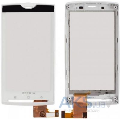 Сенсор (тачскрин) для Sony Ericsson Xperia X10 with frame Original White