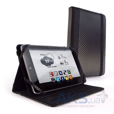 "Чехол для планшета Tuff-Luv Slim-Stand Faux Leather Case Cover for the 7"" Devices including Black Carbon (J14_9)"