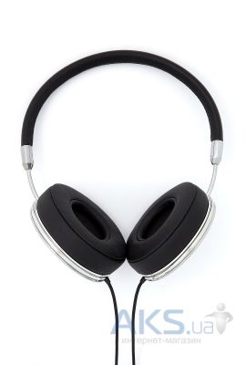 Наушники (гарнитура) Frends Taylor On-Ear Headphones Leather Black/Silver (010899)