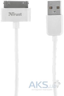 Кабель USB Trust 30-pin cable for Apple White