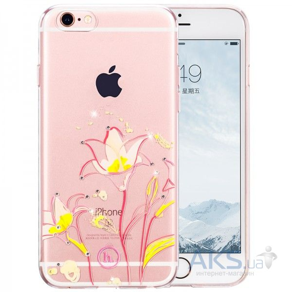 Чехол Hoco Super Star Inner Diamond Flower Apple iPhone 6, iPhone 6S Goldband Lily