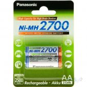 Аккумулятор Panasonic AA (R6) High Capacity (2700mAh) 2шт (BK-3HGAE/2BE)