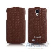 Чехол iCarer Crocodile Pattern series flip for Samsung Galaxy S4 Brown