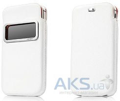 Чехол Capdase Smart Pocket Case ID Luxe White/Orange Apple iPhone 4, iPhone 4S (DPIH4S-H227)