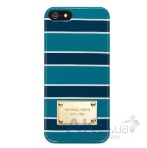 Чехол Michael Kors Stripe Case for iPhone 5/5S Blue (MK-STRP-BLUE)