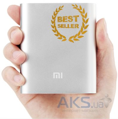 Внешний аккумулятор Xiaomi Mi Power Bank NDY-02-AD 10400mAh Silver