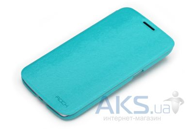 Чехол Rock Big City Series Samsung i9200 Galaxy Mega 6.3 Light Blue (I9200-30392)