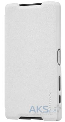 Чехол Nillkin Sparkle Leather Series Sony Xperia Z5 Compact E5823 White