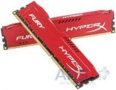 Вид 4 - Оперативная память Kingston DDR3 8Gb (2x4GB) 1866 MHz HyperX Fury Red (HX318C10FRK2/8)