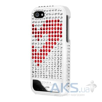 Чехол Lucien Elements Hearts Exclusive Selections Rouge/White for iPhone 5/5S White
