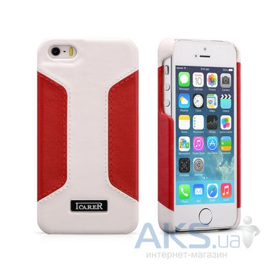 Чехол iCarer Colorblock Apple iPhone 5, iPhone 5S, iPhone 5SE White/Red