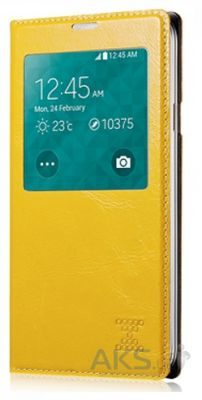 Чехол Xoomz Original Oil Wax Leather для Galaxy S5 Yellow