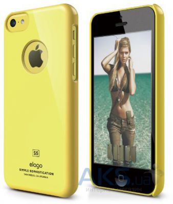 Чехол Elago Slim Fit Case For iPhone 5С Yellow