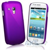 Чехол Plastic cover case for Samsung i8190 Galaxy S3 mini Purple
