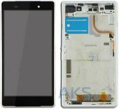 Дисплей (экран) для телефона Sony Xperia Z2 L50W D6502, D6503 + Touchscreen with frame (original) White