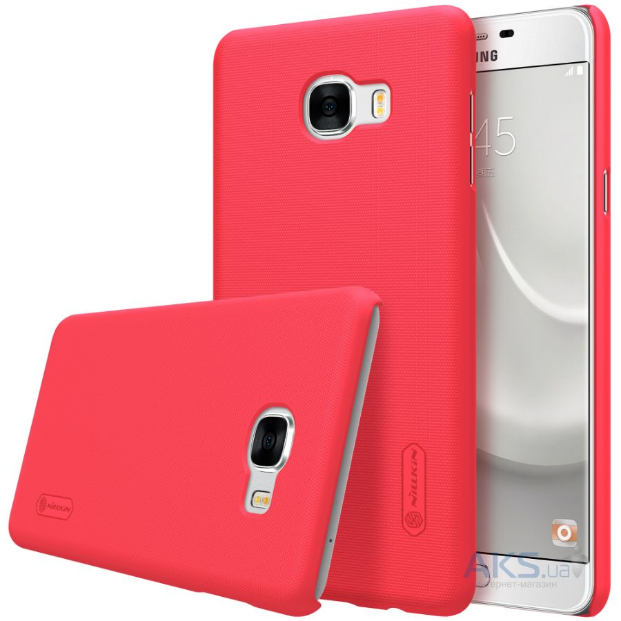 Чехол Nillkin Super Frosted Shield Samsung C7000 Galaxy С7 Red