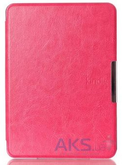 Обложка (чехол) Leather case for Amazon Kindle 6 Hot Pink