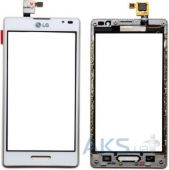 Сенсор (тачскрин) для LG Optimus L9 P760, Optimus L9 P765, Optimus L9 P768 with frame Original White