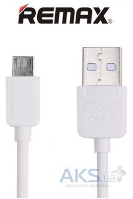 Кабель USB Remax Light micro USB White (RC-006m / 5-027)