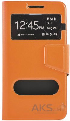 Чехол Book Cover TPU Microsoft Lumia 640 Orange