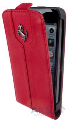 Чехол Ferrari Ferrari Montecarlo flip leather case for iPhone 5C Red  (FEMTFLPMRE)