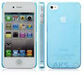 Чехол IMAK Ultra Thin Color Series Apple iPhone 4, iPhone 4S Transparent Turquoise