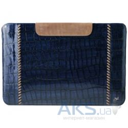 Чехол для планшета Zenus The new iPad/iPad 2 Leather Case 'Prestige' Italian Hand Crafted Stitch Pouch Series - Royal Navy