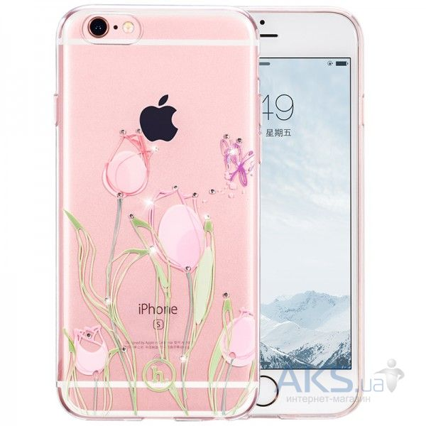 Чехол Hoco Super Star Inner Diamond Flower Apple iPhone 6 Plus, iPhone 6S Plus Tulip