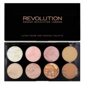 Палетка из 8 румян Makeup Revolution Blush Palette Golden Sugar
