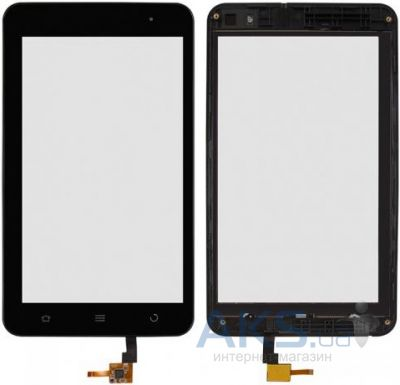 Сенсорные панели (тачскрин) ZTE V9E with frame Black