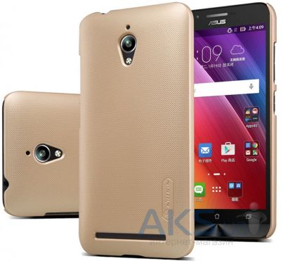 Чехол Nillkin Super Frosted Shield Asus ZenFone Go ZC500TG Gold