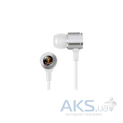 Наушники (гарнитура) Zenex ZN-EP5488 Skull & Bones Collection Headphones Nemesis Silver