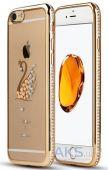 Чехол Diamond TPU Ultra Thin Apple iPhone 5, iPhone 5S, iPhone SE Gold Swan