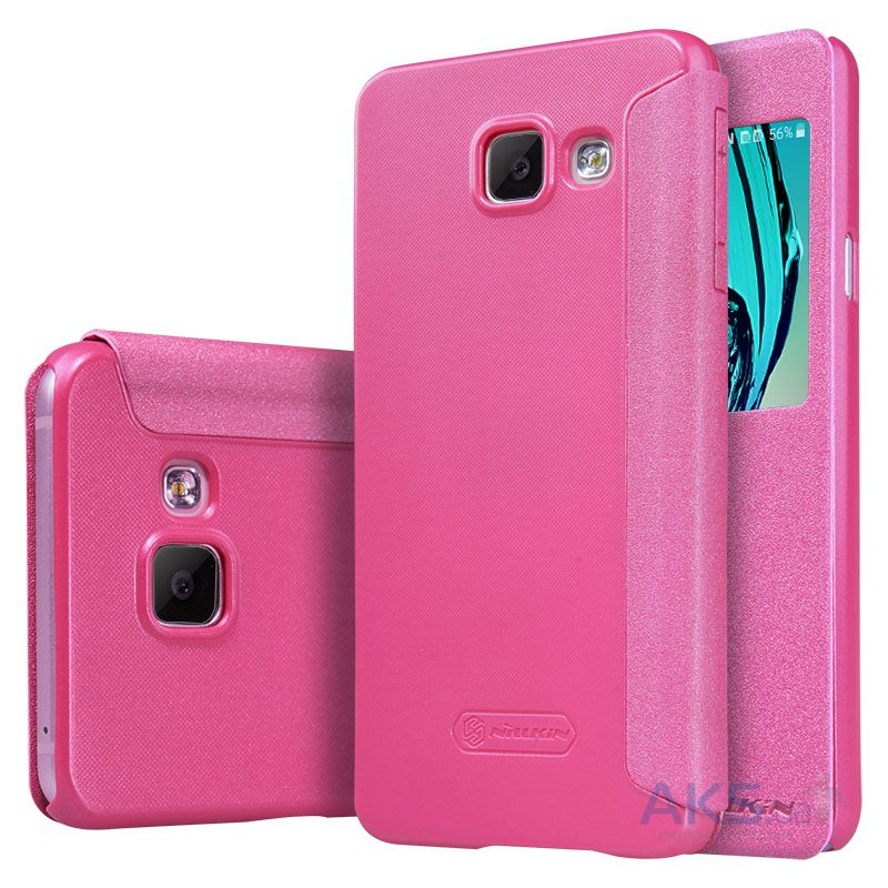 Чехол Nillkin Sparkle Leather Series Samsung A310 Galaxy A3 2016 Pink