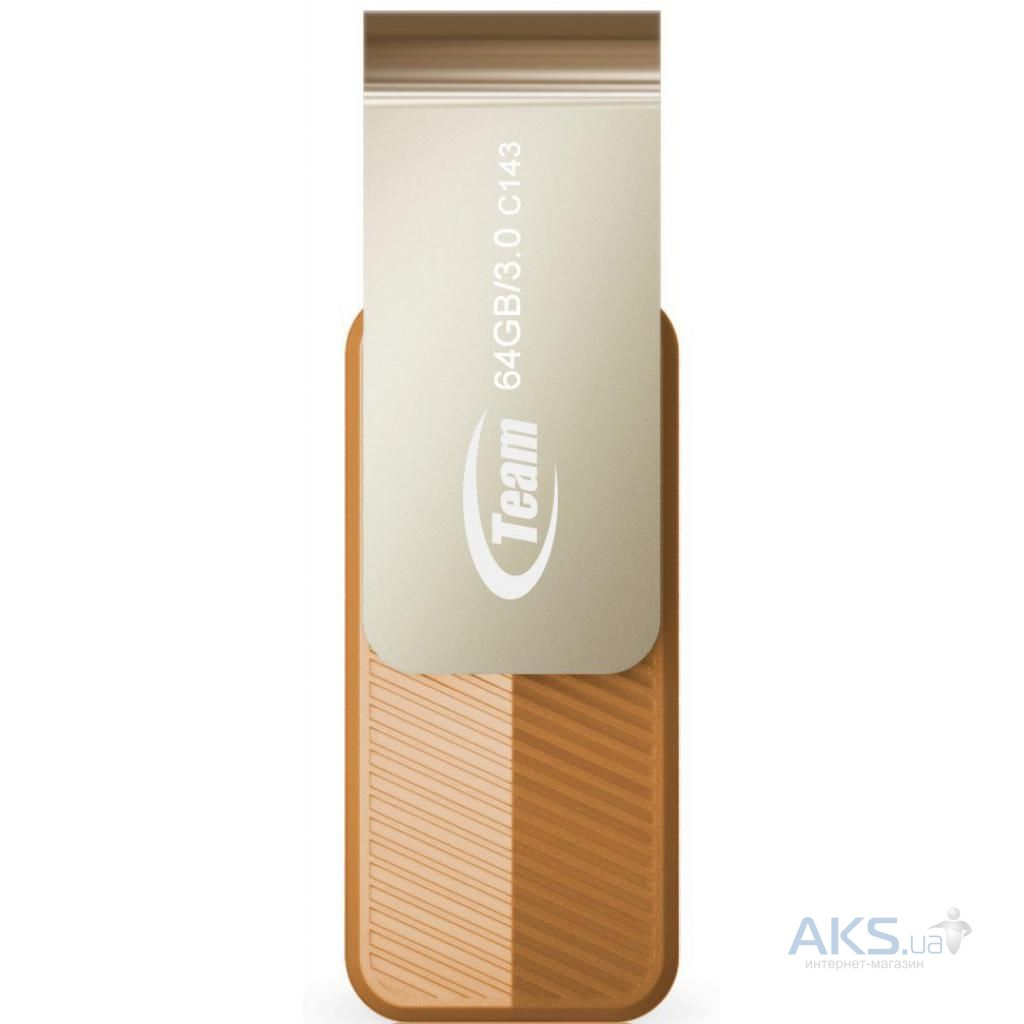 Флешка Team 128GB C143 Brown USB 3.0 (TC1433128GN01)