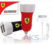 Вид 2 - Зарядное устройство Ferrari 2-USB Car Charger 2.1A with Apple Connector 30-pin/Lightning Black (FERUCC2UPBL)