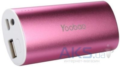 Внешний аккумулятор Yoobao Power Bank 5200 mAh Magic Wand YB-6012, [PBYB6012PK] Pink