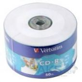 Диск Verbatim CD-R 700Mb 52x WrapTape Extra PRINTABLE (43794)