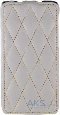 Чехол iCarer Leather Flip Case for Lenovo S660 white grid