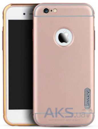 Чехол iPaky Metal Frame Series Apple iPhone 6, iPhone 6S Rose Gold