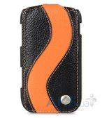 Вид 4 - Чехол Melkco Jacka special leather case for Samsung S6500 Galaxy Mini 2 Black / Orange