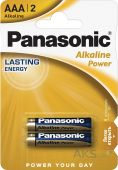 Батарейки Panasonic AAA (R03) Alkaline Power 2шт (LR03REB/2BP)